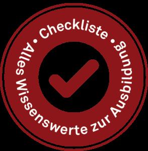 Checkliste - Alles Wissenswerte zur Ausbildung